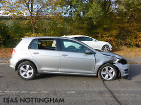 2015 Volkswagen Golf 1.4 TSI 125 BMT Match Silver Damaged Salvage CAT D