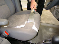 Vehicle upholstery deep cleaning services