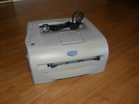 Quality slimline Brother laser printer,only few months old,works perfect,ink included,bargain at £45