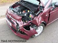 2016 Fiat 500 POP 1.2 69 Bhp Red Damaged Salvage CAT D