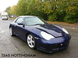 2004 Porsche 911 Carrera 4 S Tiptronic S Convertible 3.6 Auto Damaged Salvage