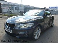 2015 * 65* BMW 2 Series 220 D M Sport 190 Auto Convertible Damaged Salvage CAT D