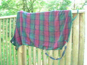 Wool and Irish Weave Tartan Stable Blanket for Smaller Horse
