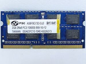 2GB RAM for Laptop DDR3-1333mhz PC3-10600S  204pin