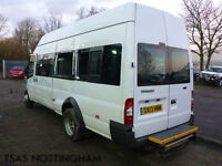 2013 Ford Transit Minibus 135 T430 RWD 17 Seater White Damaged Salvage