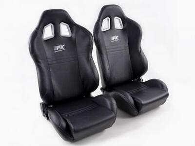 Pair Front Car Sports Seats New York black seam grey VW Audi Seat Skoda