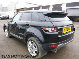 2014 Land Rover Evoque Diesel Black Damaged Salvage CAT D