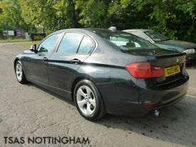 2013 BMW 3 Series 320 D Efficient Dynamics Black Damaged Salvage