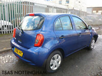 2016 *66* Nissan Micra 1.2 80 Visia Blue Damaged Salvage CAT D