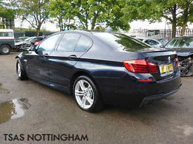 2014 BMW 5 Series 520 D 184 Bhp Auto M Sport Black Damaged Salvage