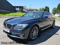 2014 BMW 7 SERIES 730 D SE 258 Bhp Auto Blue Damaged Repaired CAT D