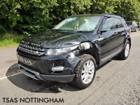 2014 *64* Land Rover Range Rover Evoque Pure TECH 190 4X4 Auto Damaged Salvage