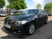 2014 BMW 5 Series 520 D M Sport 184 Bhp Auto Black Damaged Salvage