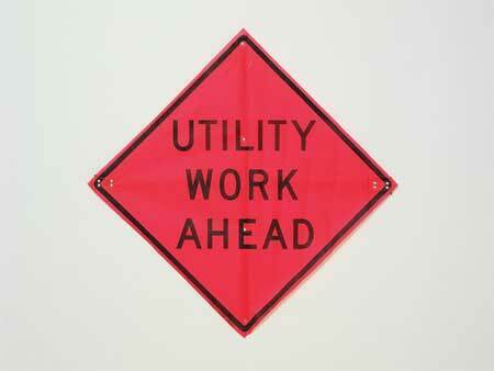 Eastern Metal Signs And Safety C/36-Emo-3Fh-Hd Utility Work Ahead Road