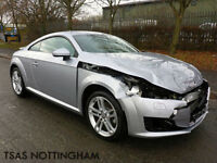 2016 *66* Audi TT Sport Coupe 2.0 TFSI 230 Silver Damaged Salvage CAT D