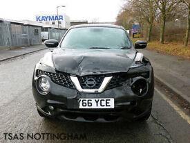 2016 *66* Nissan Juke 1.5 DCi 110 N-Connecta Black Damaged Salvage CAT D
