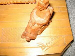 HANDCRAFTED CARVED LAMP - REDUCED London Ontario image 5