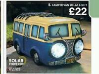 Solar powered campervan lamp