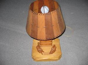 HANDCRAFTED CARVED LAMP - REDUCED London Ontario image 1