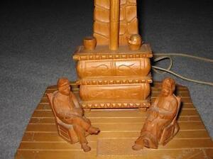 HANDCRAFTED CARVED LAMP - REDUCED London Ontario image 2