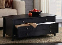 HomeTrends Coffee Table with Two Drawers
