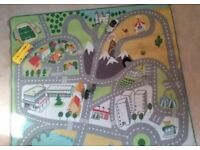 Play mat for toy cars.