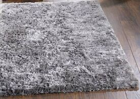 shimmer grey modern rug 120 x 170