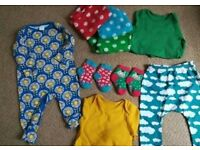 Baby clothes bundle joblot colourful unisex new muslins organic cotton frugi boots mini club M&S