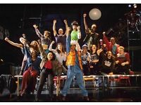 2 Tickets for Rent the musical