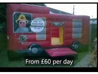 Bouncy Castle hire from £40 aday