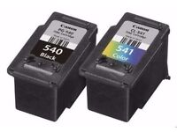 EMPTY Canon CL-541 Coloured Ink Cartridge and Canon PG-540 Black Ink Cartridge