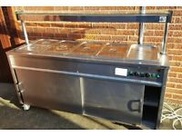 Stanley Mobile Hot Cupboard With Bain Marie Top on Wheels - Free Delivery In Southampton