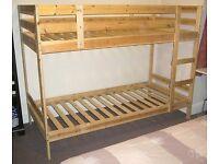 Ikea Mydal Single Bunk Beds with Mattress