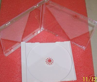 100 High Quality 10.4mm Standard Cd Jewel Cases 100 White Trays Bl100lz01pk