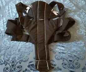 Bjorn miracle baby carrier - black in great condition.