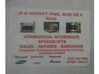 COMMERCIAL MICROWAVE REPAIR SERVICES COVERING LANCASHIRE, LIVERPOOL, MANCHESTER, CUMBRIA, YORKSHIRE