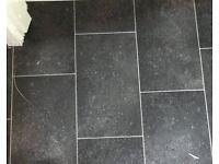 NEW Slate Stone vinyl lino flooring - 5.5m x 3m - Offers Welcome
