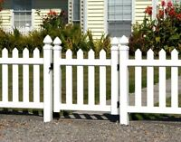 Vinyl Picket Fence and Gate