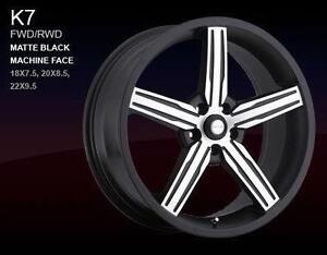 ***BRAND NEW*** 20IN 5-STAR BLACK AND MACHINE RIMS W/TIRES - BMW