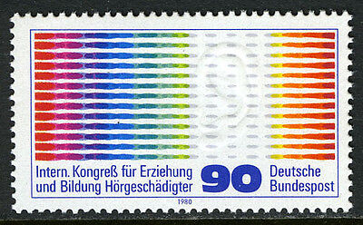 Germany 1332,MNH.Education of the Hard of Hearing.Oscillogram Pulses & Ear,1980