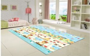 Eco Friendly Play Mat-Animal Camping - Large 71 x 98.4 x 0.67in
