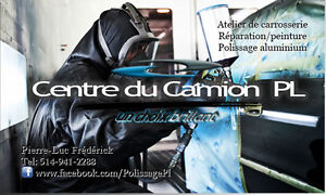 Peinture painting carrosserie camion truck polissage polishing