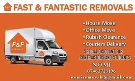Cheap big van & MAN 24/7 short notice removals house,flat,office,commercial move UK & waste clear
