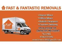 £15 CHEAP MAN & VAN services for house,flat,studio,office,commercial removal & scooter recovery