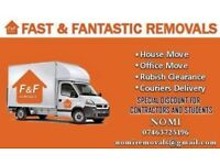 CHEAP BIG VAN & MAN 24/7 Urgent last minute removal for house,flat,office,etc move & waste clearance