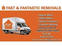 Man and van 24/7 last minute cheap price removals House//office local & nationwide removals