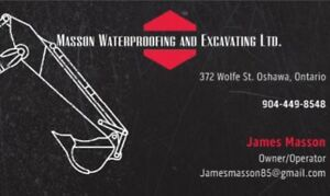 Basement Waterproofing, Excavating and Grading Services