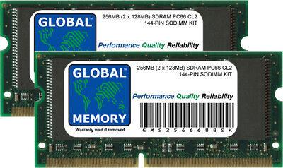 128mb Sdram Pc66 144 Pin (256mb (2 x 128mb) Pc66 66mhz 144-pin Sdram Sodimm Kit Memoria RAM per Laptop)