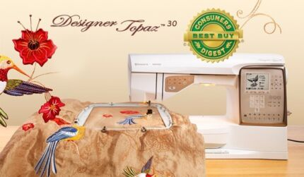 Husqvarna  Designer Topaz 30 Sewing Machine & Embroidery Unit Carlton Kogarah Area Preview