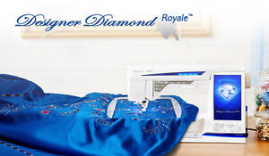 Husqvarna Viking Designer Diamond Royale Sewing/Embroidery Machine w/kit